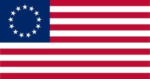 13 Star American Flag, (Betsy Ross design)