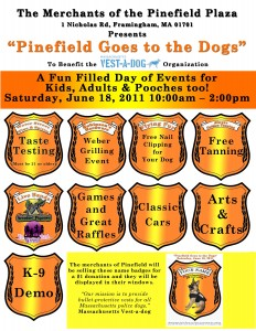 Vest-A-Dog fundraiser at Pinefield Shopping Center June 18, 2011