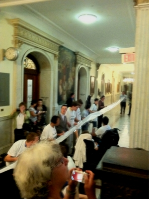 100 foot petition for H159 presented to Governor (June 21, 2011)