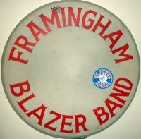 Bass drum from the original Framingham Blazers Band