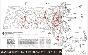 Map of Massachusetts Congressional Districts (2011)