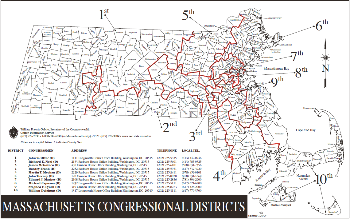 Framingham News Public Meetings - Massachusetts us house of representatives district map