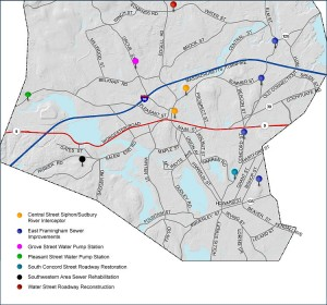 Framingham Traffic Detour Maps