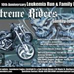 Xtreme Riders 10th Annual Leukemia Run poster