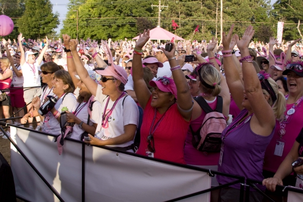 Photo from last year's 3-Day for the Cure Opening Ceremony at Farm Pond in Framingham, MA.