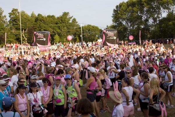 3-Day for the Cure Opening Ceremony at Farm Pond in Framingham, MA.