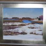 Snow Scene by Charles Holt, (Framingham, MA - Artist Guild Vice President)