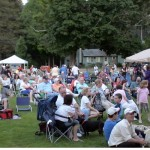 Some of the crowd at Fraimingham, MA - Concert on the Green, July 1, 2011