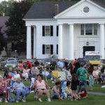 Crowd in front of Village Hall at Concert on the Green, July 1, 2011