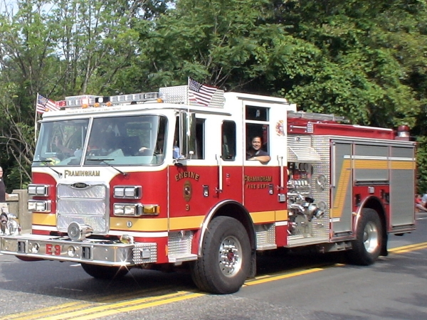 Framingham Fire Department in 2011 Natick 4th of July Parade
