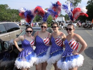 Nancy Kelly Dancers from Natick and Framingham pose for a picture before the parade.