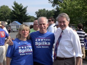 Rep. Karen Spilka, her husband Joel Loitherstien & Congressman Ed Markey