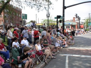 Parade goers pack Downtown Natick sidewalks