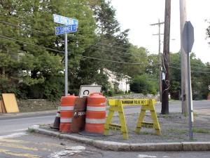 Summer 2010 - Detours on Concord St. send drivers down Summer St.