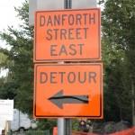 Detour while Danforth Street Bridge in Framingham, MA is under construction.