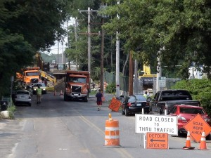 A Street, Framingham, MA near Framingham High School, closed during day for construction (July 2011)