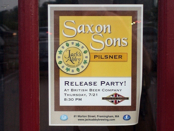 Saxon Sons Pilsner - Release Party poster.