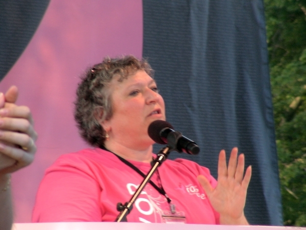 Ronni Cohen-Boyar, Executive Director for the Massachusetts Affiliate of the Susan G. Komen 3-Day organzation.