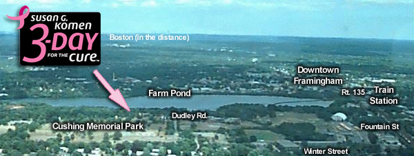 Farm Pond, Framingham, MA - Location of 3-Day for the Cure Opening Ceremony (July 22, 2011)