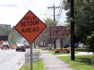 Edgell Rd, Framingham Center, 24 Hour Detour, (August 2011)
