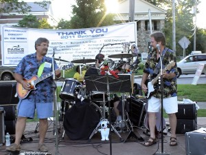 3 OF A KIND band Framingham Concert on the Green, August 12, 2011