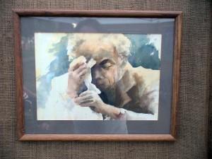 Watercolor portrait by Deborah Bottomley