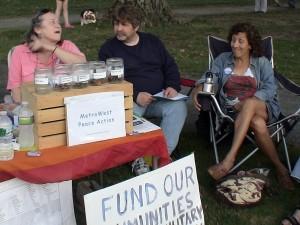 Carol Coakly, Lloye Kaye and Susan Massad of Metrowest Peace Action