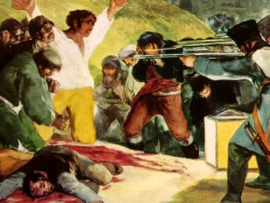 Detail from Francisco Goya painting - Shootings of May 3, 1808
