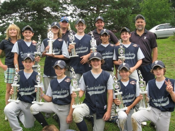 Coach Janet Leombruno with the 2011 Baystate A Division, (12 year olds) Framingham Travel Team.