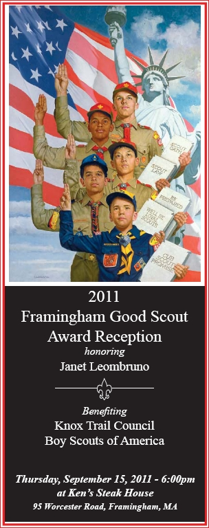 Janet Leombruno, 2011 Framingham, MA Good Scout Award Reception