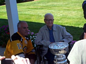 "Bruce and Desire ""Dave"" Caissie with Stanley Cup at St. Partick's Manor (September 2, 2011)"