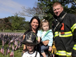 Paul Harding and family at 9/11 Remembrance Ceremony, Framingham, MA, September 11, 2011
