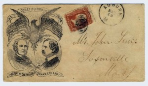 Civil War Era Postal Cover Mailed to Saxonville, Mass.
