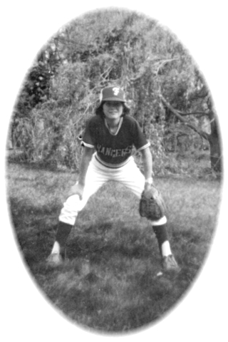 Janet Leombruno, (at age 12, circa 1976), one of the first 2 girls to play Little Leauge in Framingham