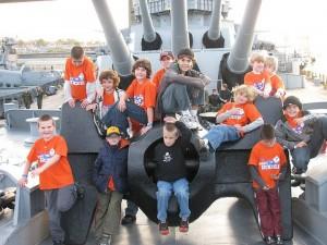 Boys of North Framingham Pack 78 aboard the U.S.S. Massachusetts