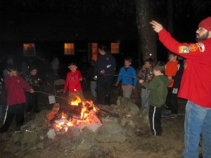 Framingham Scout Pack 78 on overnight at Scout Reservation on Nobscot Mountain.