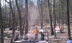 Pack 78 Scouts experient with Mentos and Soda, Framingham, MA 2010