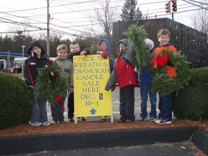 Cub Scouts from Pack 78 raising funds during the holiday season.