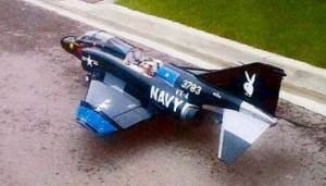 1960's era US Navy Phantom jet fighter