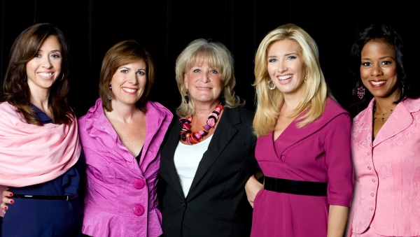 Channel 5 Newswomen host ''Circle of Five'' in Framingham, October 26, 2011