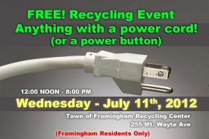 Town of Framingham - Recycle Event, July 11th, 2012