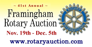 41st Annual Framingham Rotary Auction - Nov. 19th through Dec. 5th, 2012.