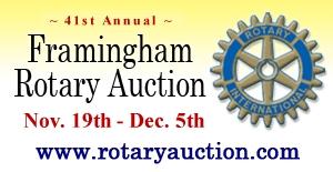 41st Annual Framingham Rotary Auction - Nov. 19th through Dec. 5th, 2012.