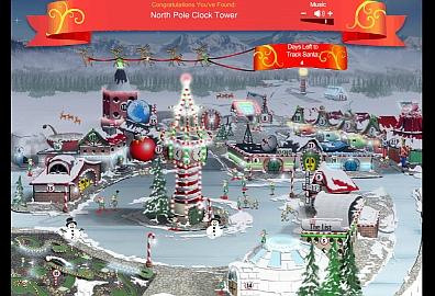 2012 NORAD Santa Tracker website, kid's activities.