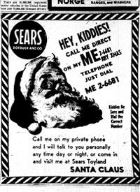 1955 Sears Christmas Ad mistakenly publishes Air Force hotline number