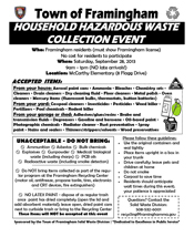 Framingham 2013 Household Hazardous Waste Day