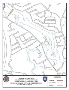 2014 - Framingham, MA - Central Street Bridge Project Map