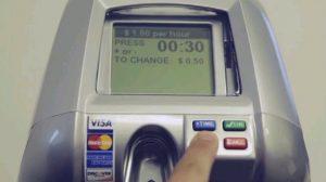 photo of digital parking meter