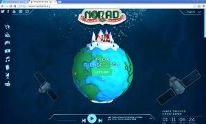 norad santa website screen capture