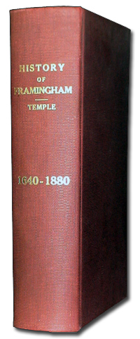 [book cover] History of Framingham, (Temple, 1887)